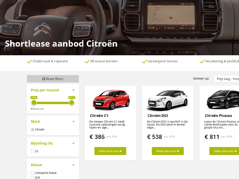 Shortlease Citroen