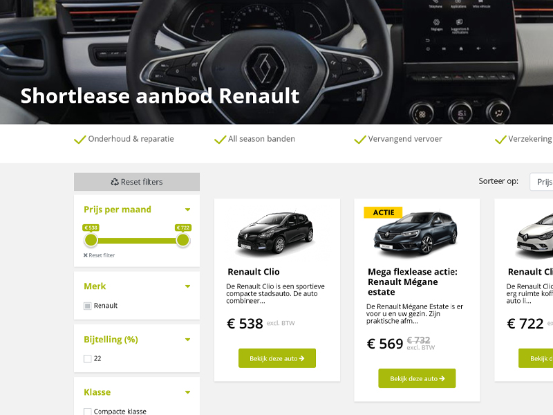 Shortlease Renault